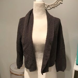 Sparkle grey cropped cardigan